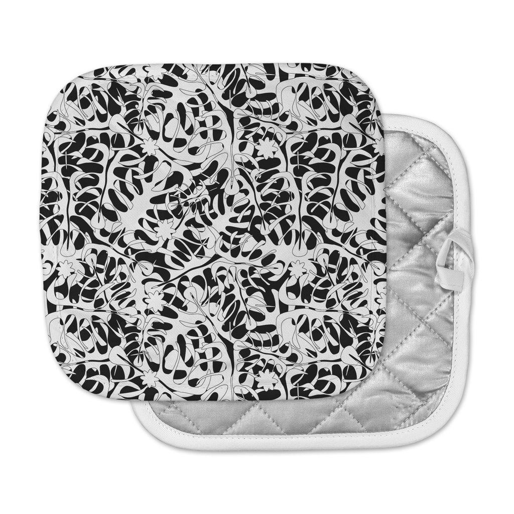 "Julia Grifol ""White Leaves"" Pot Holder"