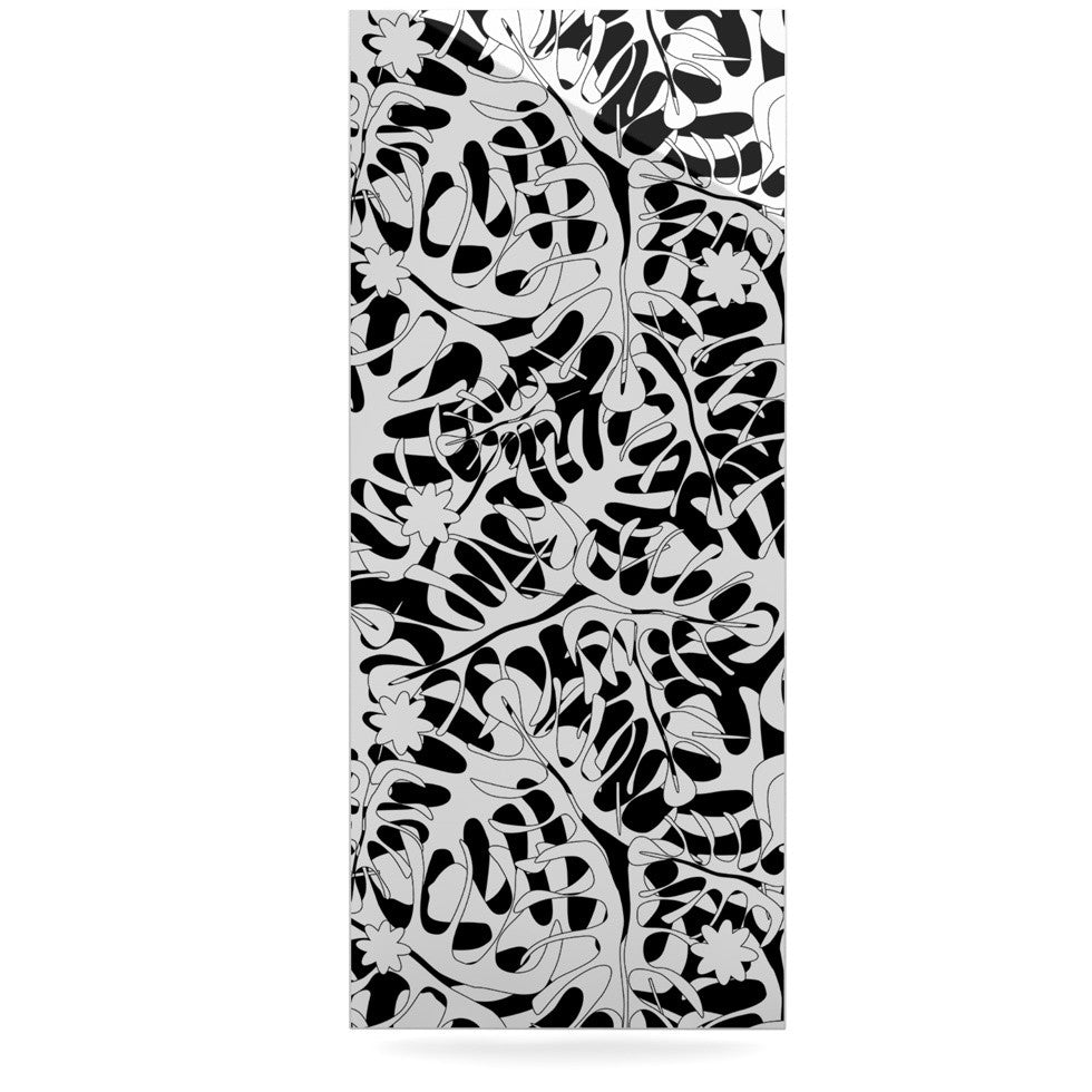 "Julia Grifol ""White Leaves"" Luxe Rectangle Panel - KESS InHouse  - 1"