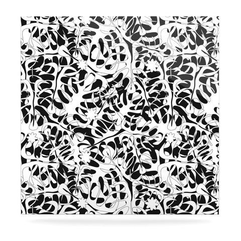 "Julia Grifol ""White Leaves"" Luxe Square Panel - KESS InHouse  - 1"