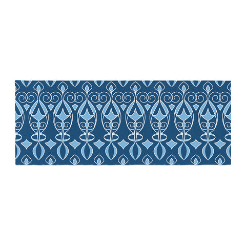 "Julia Grifol ""Blue Deco"" Aqua Pattern Bed Runner - KESS InHouse"