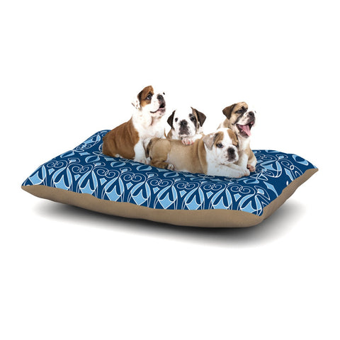"Julia Grifol ""Blue Deco"" Aqua Pattern Dog Bed - KESS InHouse  - 1"
