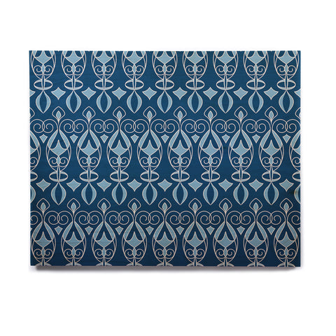 "Julia Grifol ""Blue Deco"" Aqua Pattern Birchwood Wall Art - KESS InHouse  - 1"