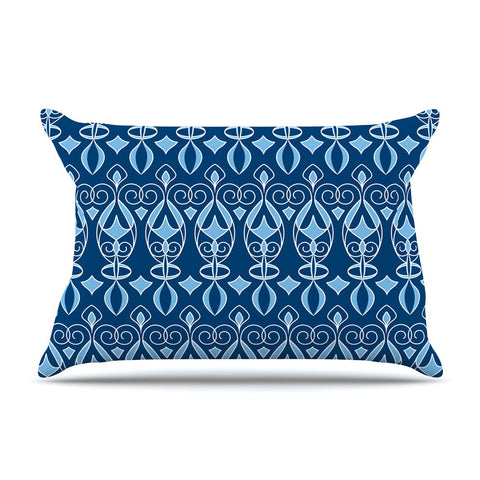 "Julia Grifol ""Blue Deco"" Aqua Pattern Pillow Sham - KESS InHouse"