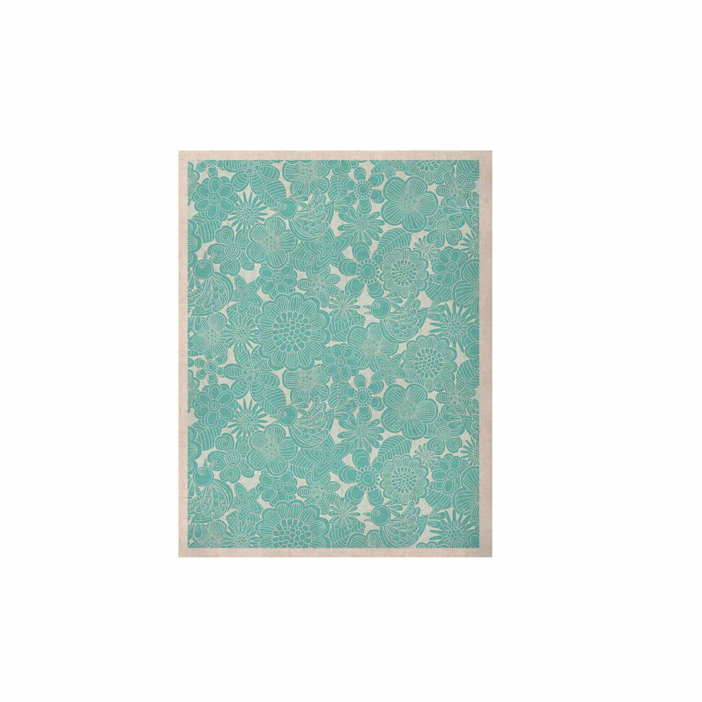 "Julia Grifol ""Turquoise Birds"" Aqua Blue KESS Naturals Canvas (Frame not Included) - KESS InHouse  - 1"