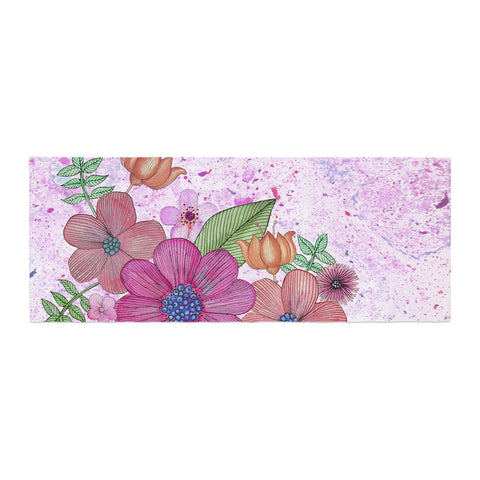 "Julia Grifol ""My Garden In Pink"" Magenta Floral Bed Runner - KESS InHouse"