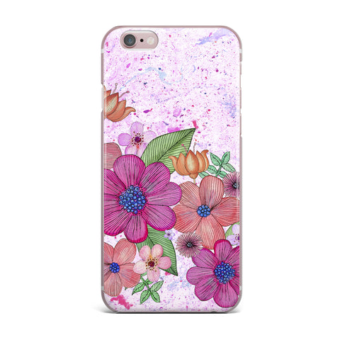 "Julia Grifol ""My Garden In Pink"" Magenta Floral iPhone Case - KESS InHouse"