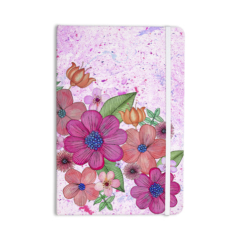 "Julia Grifol ""My Garden In Pink"" Magenta Floral Everything Notebook - KESS InHouse  - 1"
