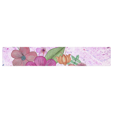 "Julia Grifol ""My Garden In Pink"" Magenta Floral Table Runner - KESS InHouse  - 1"