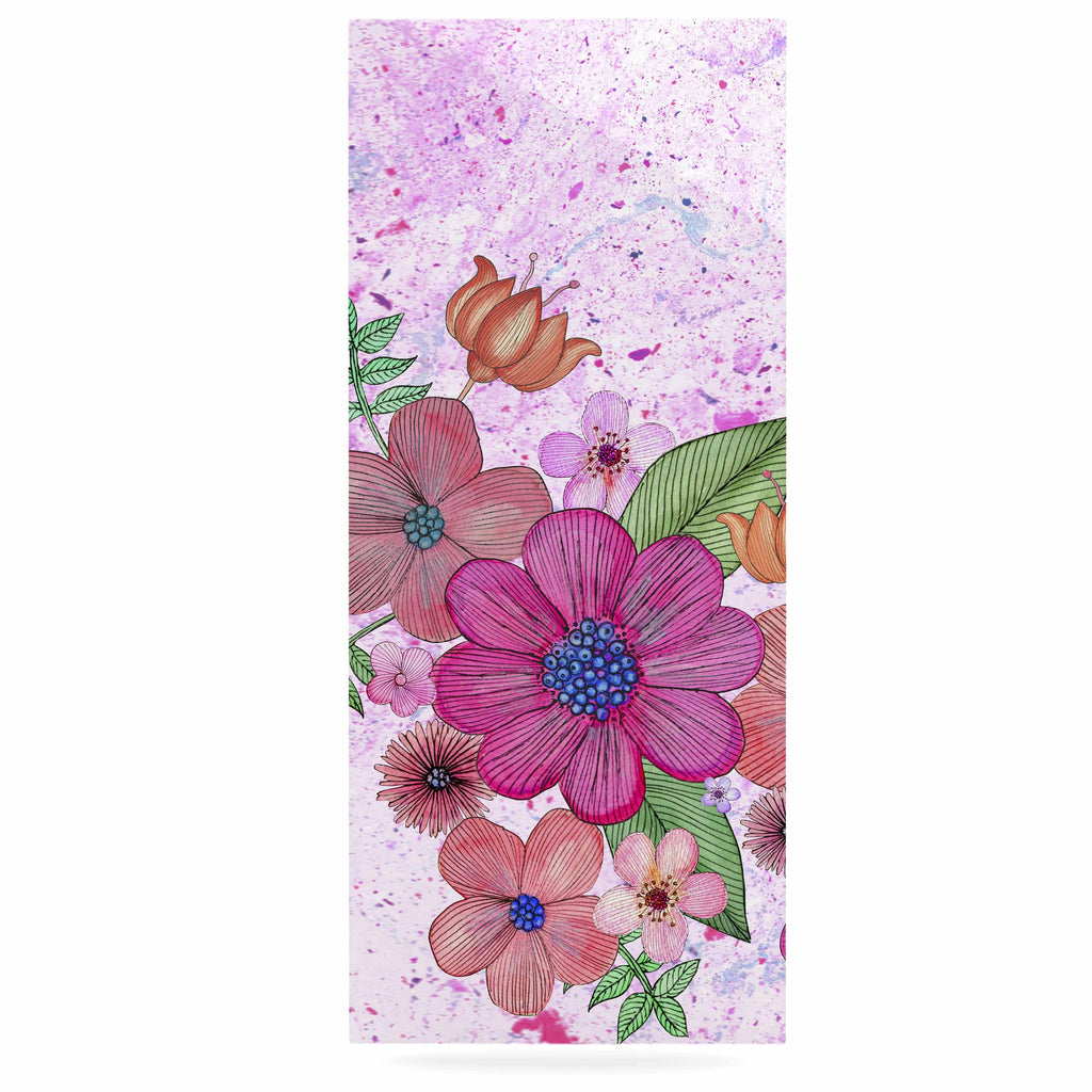 "Julia Grifol ""My Garden In Pink"" Magenta Floral Luxe Rectangle Panel - KESS InHouse  - 1"