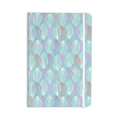 "Julia Grifol ""My White Leaves"" Pink Aqua Everything Notebook - KESS InHouse  - 1"