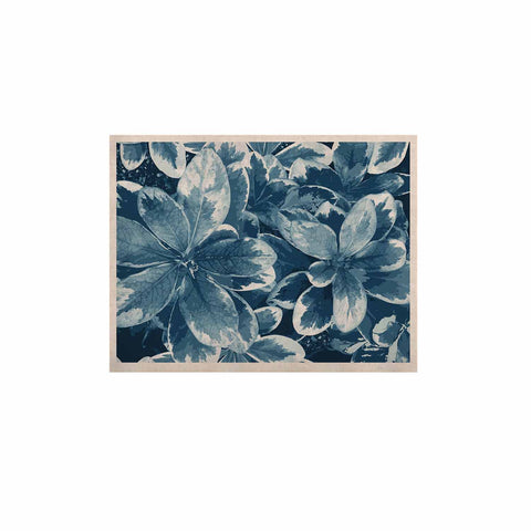 "Julia Grifol ""Leaves"" Blue Floral KESS Naturals Canvas (Frame not Included) - KESS InHouse  - 1"