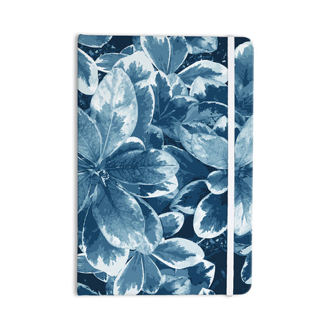 "Julia Grifol ""Leaves"" Blue Floral Everything Notebook - KESS InHouse  - 1"