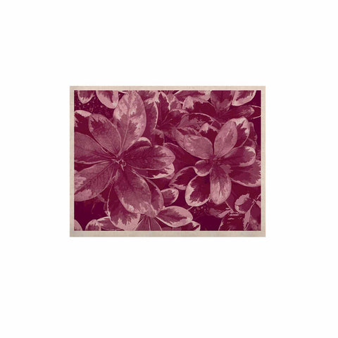 "Julia Grifol ""Warm Leaves"" Red Digital KESS Naturals Canvas (Frame not Included) - KESS InHouse  - 1"