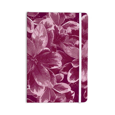 "Julia Grifol ""Warm Leaves"" Red Digital Everything Notebook - KESS InHouse  - 1"