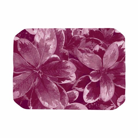 "Julia Grifol ""Warm Leaves"" Red Digital Place Mat - KESS InHouse"
