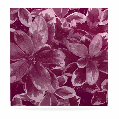 "Julia Grifol ""Warm Leaves"" Red Digital Luxe Square Panel - KESS InHouse  - 1"