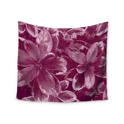 "Julia Grifol ""Warm Leaves"" Red Digital Wall Tapestry - KESS InHouse  - 1"
