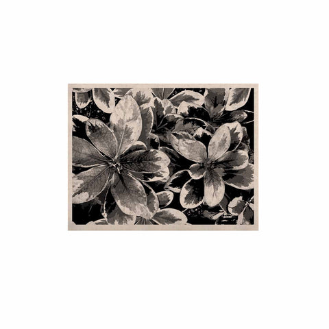 "Julia Grifol ""Leaves In Gray"" Floral Black KESS Naturals Canvas (Frame not Included) - KESS InHouse  - 1"