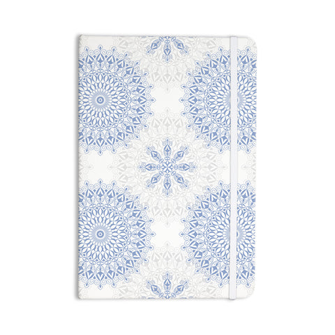 "Julia Grifol ""Mandalas In Blue"" Vector Geometric Everything Notebook - KESS InHouse  - 1"