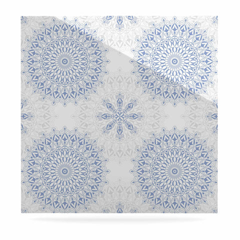 "Julia Grifol ""Mandalas In Blue"" Vector Geometric Luxe Square Panel - KESS InHouse  - 1"