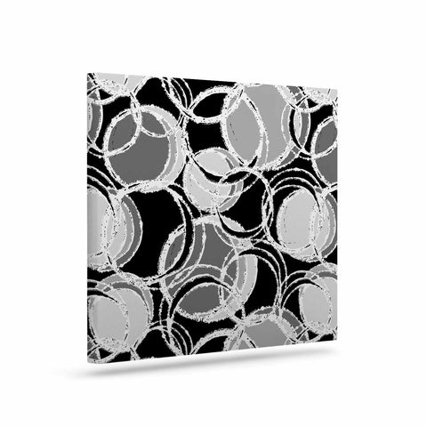 "Julia Grifol ""Simple Grey Circles"" Black Gray Canvas Art - KESS InHouse  - 1"