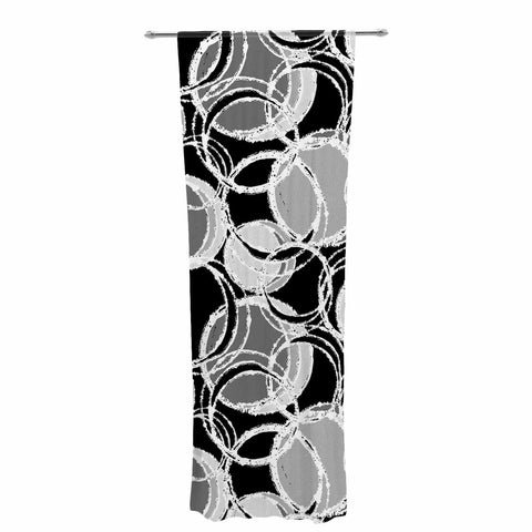"Julia Grifol ""Simple Grey Circles"" Black Gray Decorative Sheer Curtain - KESS InHouse  - 1"