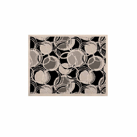 "Julia Grifol ""Simple Grey Circles"" Black Gray KESS Naturals Canvas (Frame not Included) - KESS InHouse  - 1"