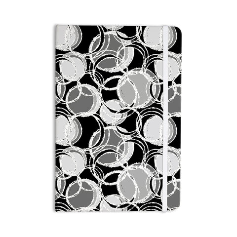 "Julia Grifol ""Simple Grey Circles"" Black Gray Everything Notebook - KESS InHouse  - 1"
