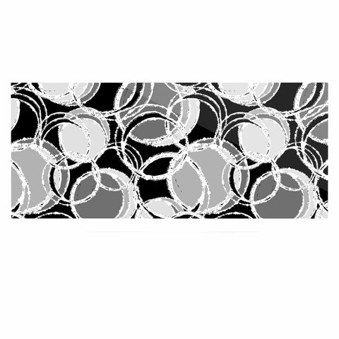 "Julia Grifol ""Simple Grey Circles"" Black Gray Luxe Rectangle Panel - KESS InHouse  - 1"