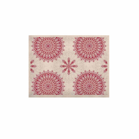 "Julia Grifol ""Geometric Mandalas"" Red White KESS Naturals Canvas (Frame not Included) - KESS InHouse  - 1"