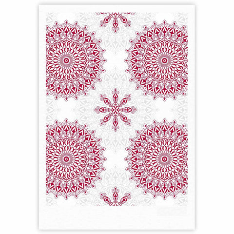 "Julia Grifol ""Geometric Mandalas"" Red White Fine Art Gallery Print - KESS InHouse"