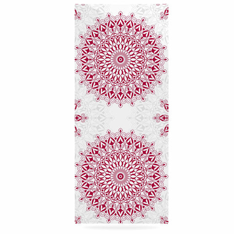 "Julia Grifol ""Geometric Mandalas"" Red White Luxe Rectangle Panel - KESS InHouse  - 1"