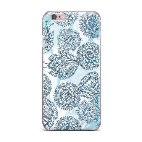 "Julia Grifol ""Garden In Blue"" Blue Floral Vector iPhone Case"