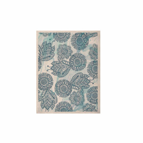 "Julia Grifol ""Garden In Blue"" Blue Floral Vector KESS Naturals Canvas (Frame not Included)"