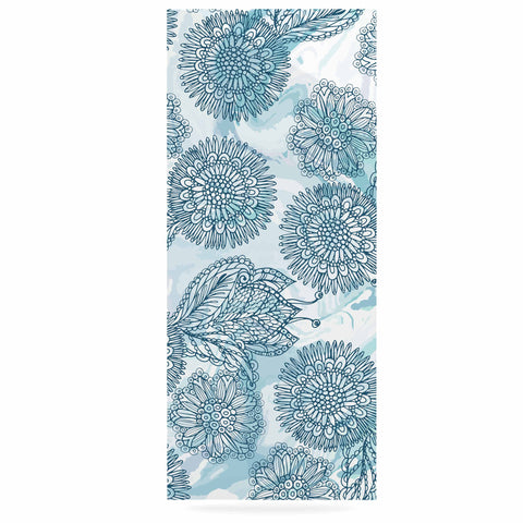 "Julia Grifol ""Garden In Blue"" Blue Floral Vector Luxe Rectangle Panel"