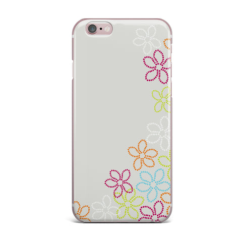 "Julia Grifol ""Dancing Flowers"" Gray Orange Vector iPhone Case - KESS InHouse"