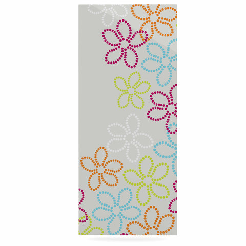 "Julia Grifol ""Dancing Flowers"" Gray Orange Vector Luxe Rectangle Panel - KESS InHouse  - 1"