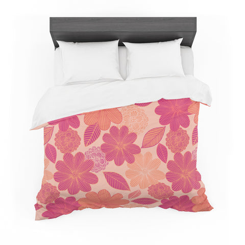 "Julia Grifol ""Lovely Flowers"" Pastel Magenta Digital Featherweight Duvet Cover"