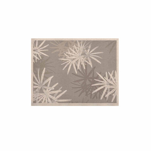 "Julia Grifol ""White Paradise Flowers"" White Gray Digital KESS Naturals Canvas (Frame not Included)"