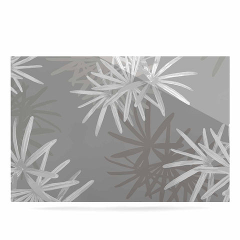 "Julia Grifol ""White Paradise Flowers"" White Gray Digital Luxe Rectangle Panel"