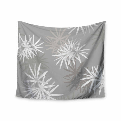 "Julia Grifol ""White Paradise Flowers"" White Gray Digital Wall Tapestry"