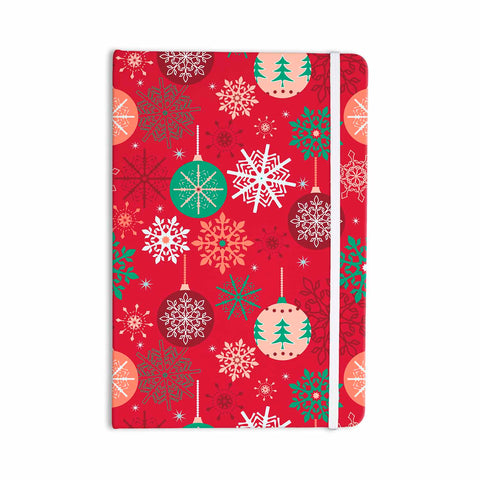 "julia grifol ""Christmas Balls"" Red Green Pattern Holiday Vector Everything Notebook"