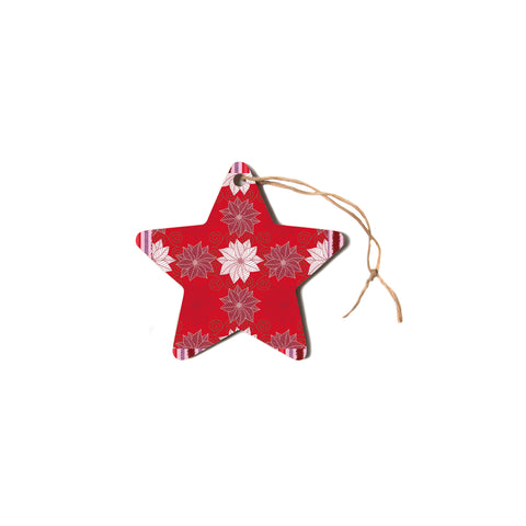 "julia grifol ""Christmas Time"" Red White Pattern Floral Vector Digital Star Holiday Ornament"