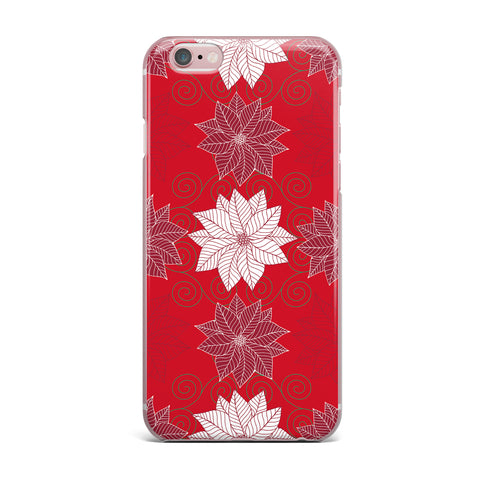 "julia grifol ""Christmas Time"" Red White Pattern Floral Vector Digital iPhone Case"