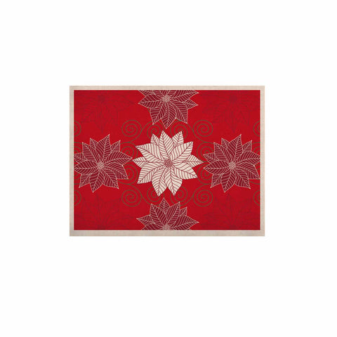 "julia grifol ""Christmas Time"" Red White Pattern Floral Vector Digital KESS Naturals Canvas (Frame not Included)"