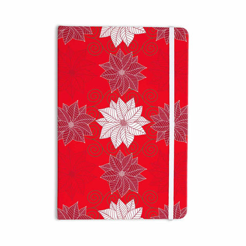 "julia grifol ""Christmas Time"" Red White Pattern Floral Vector Digital Everything Notebook"