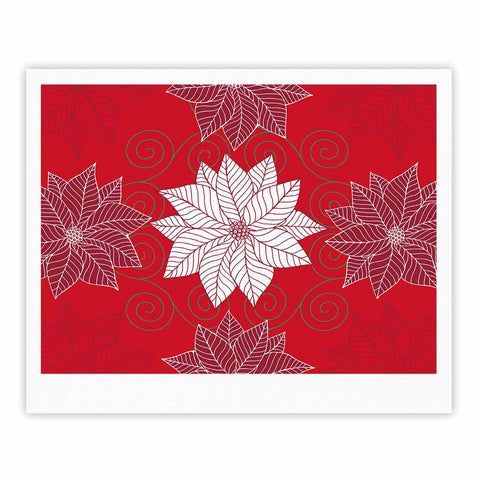 "julia grifol ""Christmas Time"" Red White Pattern Floral Vector Digital Fine Art Gallery Print"