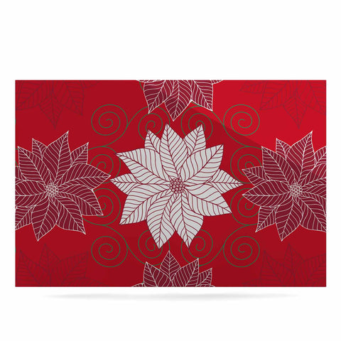 "julia grifol ""Christmas Time"" Red White Pattern Floral Vector Digital Luxe Rectangle Panel"