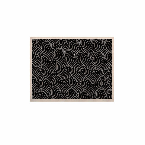 "julia grifol ""Crazy Love"" Black White Geometric Pattern Vector Digital KESS Naturals Canvas (Frame not Included)"
