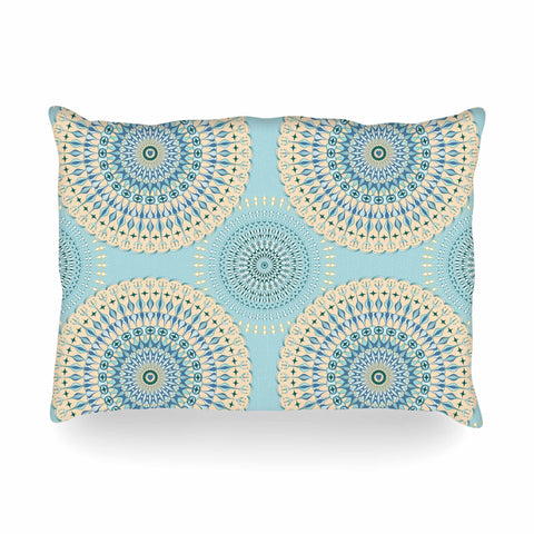 "Julia Grifol ""Sweet Time"" Blue Pastel Geometric Pattern Vector Digital Oblong Pillow"